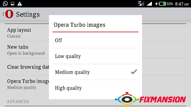 Reduce data used with turbo image