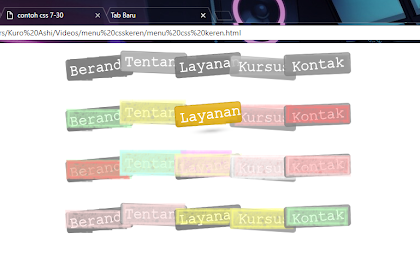 Source Code Menu Navigasi With CSS3 Keren Lucu