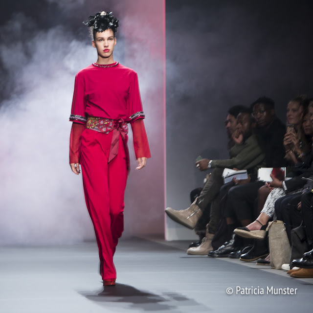 Merel van Glabbeek at Amsterdam Fashion Week - Mexican influences in her 'Flame' collection