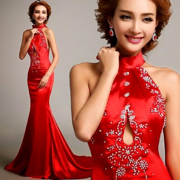 Wedding Gown Malaysia: Modern Cheongsam Mermaid Dress Sexy Bareback! :: My Gown Dress