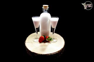 licor casero crema de fresa