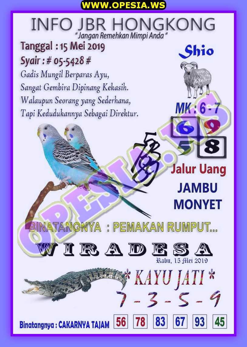 Kode syair hk rabu 15 Mei 2019 - Kode Syair SGP HK SD Motesia