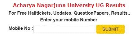 Acharya Nagarjuna University UG Results