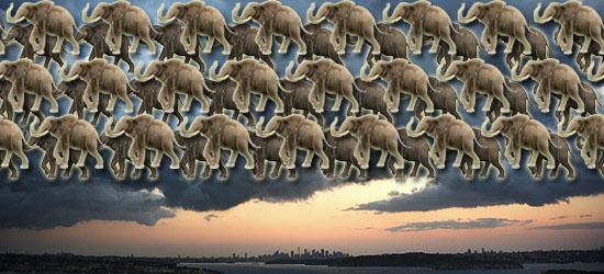 Fatos científicos- Nuvens com peso de elefantes