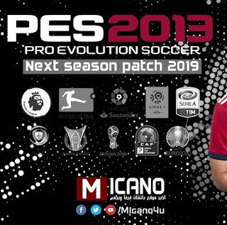 PES 2013 Next Season Patch 2019 Latest File Options