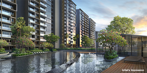 The Poiz Residences Water Features