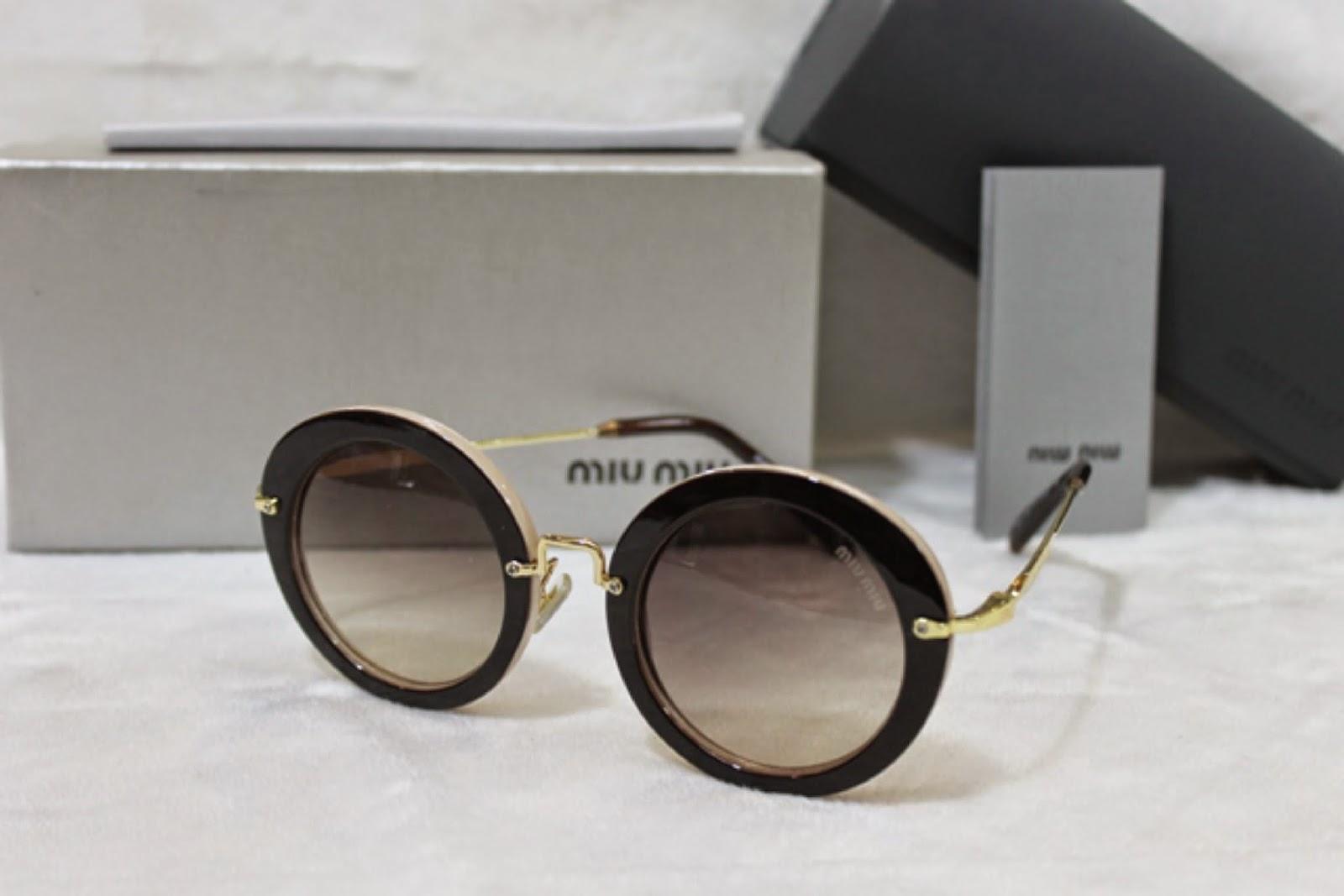 Kacamata Miu-miu 13ns Kombinasi Coklat d2347f51a9