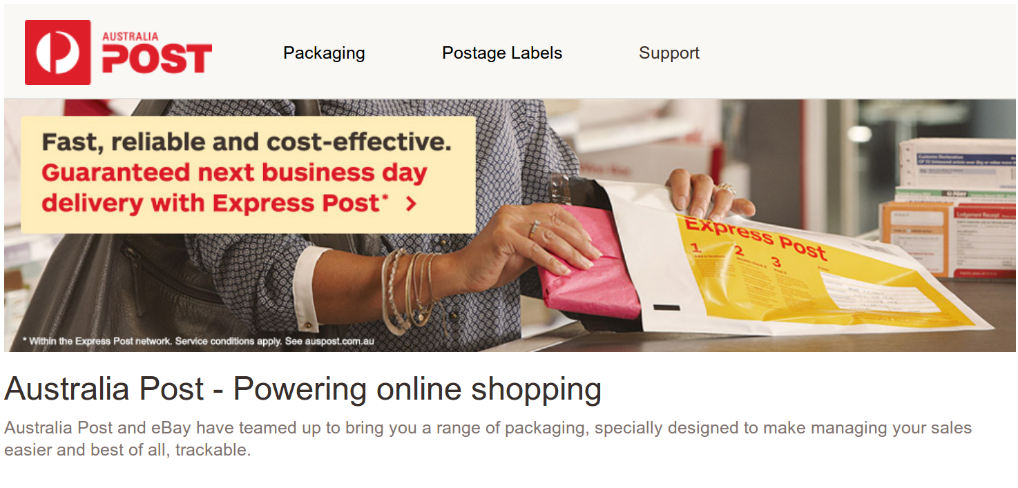 Australia Post on Ebay - still as dodgy as Who Flung Dung's