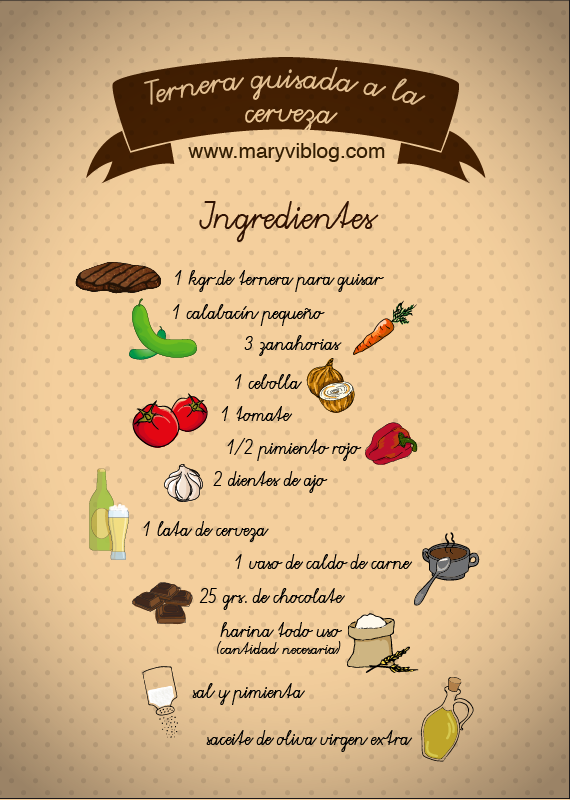 ternera guisada: ingredientes