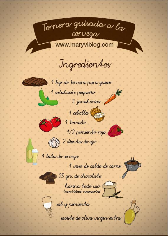 ternera guisada: ingredientes