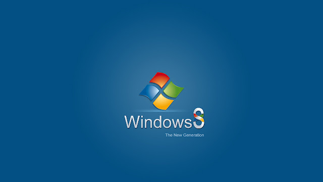 Blauwe Windows 8 wallpaper