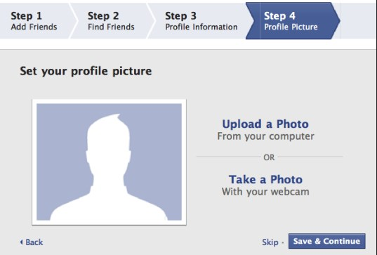 create facebook account new user