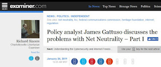 Net neutrality James Gattuso Heritage Foundation