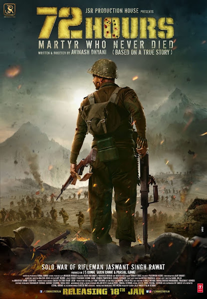 Poster of 72 Hours: Martyr Who Never Died (2019) Full Movie Hindi 720p HDRip ESubs Download