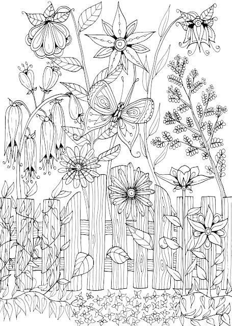 59 gambar mewarnai pemandangan taman bunga