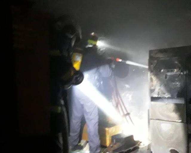 Άμεση επέμβαση για πυρκαγιά σε υποσταθμό της ΔΕΗ στην Ύδρα