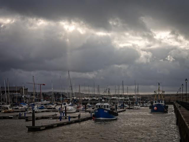 Photo of storm coluds over Maryport Marina