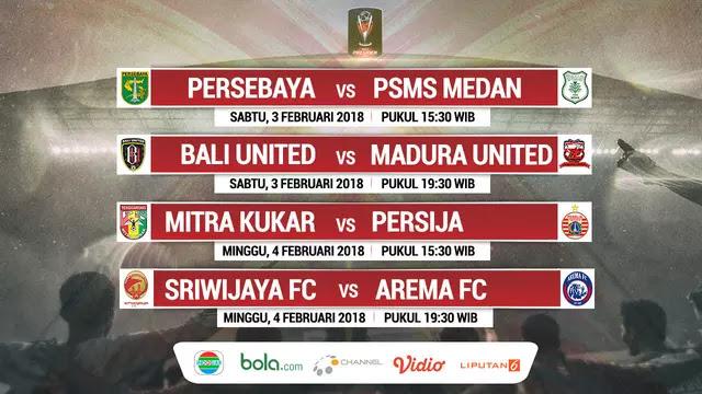 Jadwal Pertandingan 8 Besar Piala Presiden 2018, Saling Hantam dan Jegal