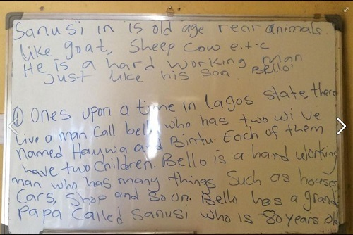 What a Certified Teacher in Nigeria Taught Some Children will Shock You (Image)