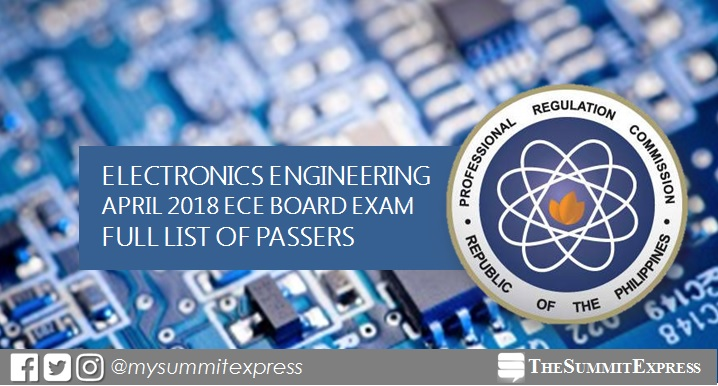 FULL RESULTS: April 2018 Electronics Engineer ECE board exam