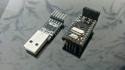 Arduino Pro Mini и преобразователь USB-USART