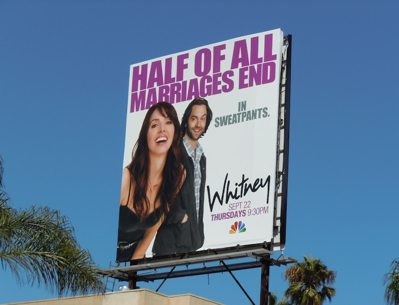 Whitney marriage ends in sweatpants billboard