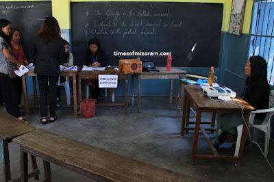 Polling booth Mizoram