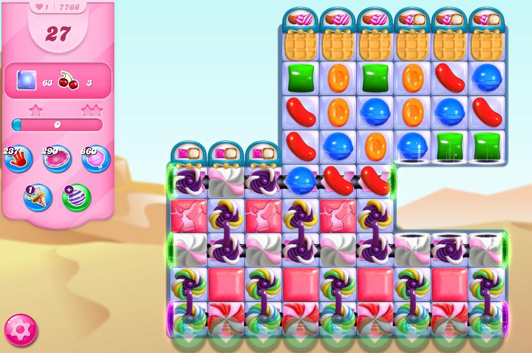 Candy Crush Saga level 7766