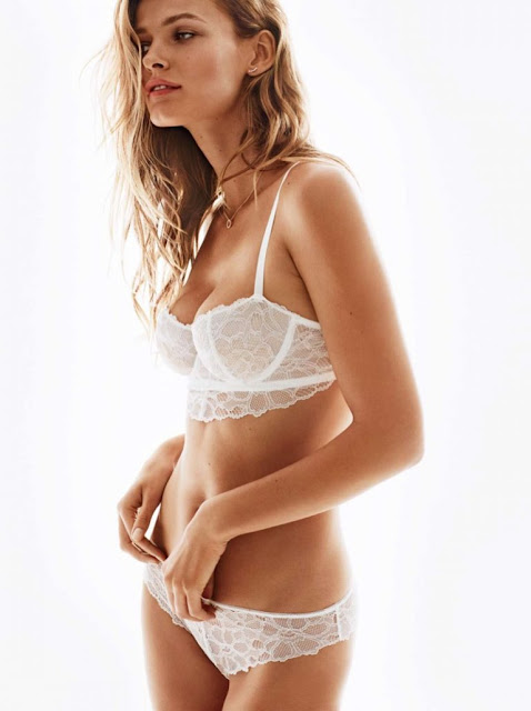 H&M Lace Underwire Bra and Lace Briefs