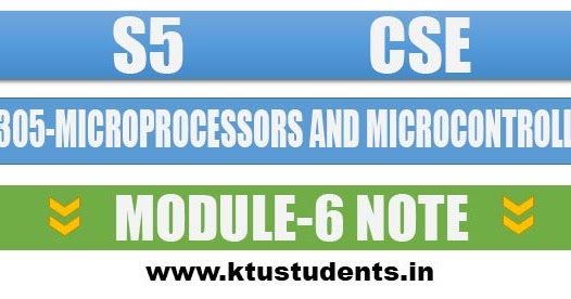 Note For Cs305 Microprocessors And Microcontrollers Module