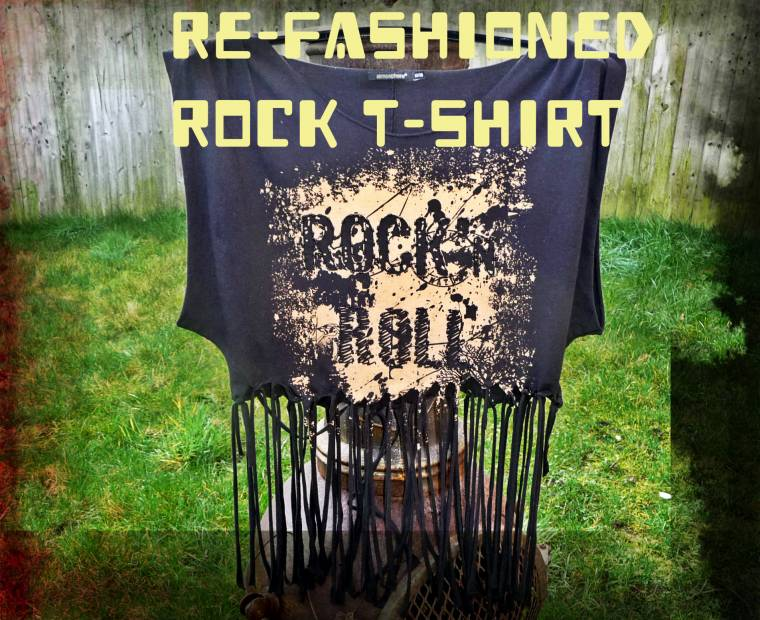 Rock Top Got More Rockier: Up-cycled And Refashioned