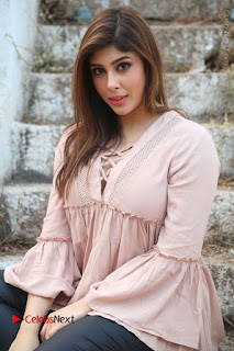 Telugu Actress Aditi Singh Stills in Leather Pants at Nenu Kidnap Iyanu Movie Press Meet  0165.JPG