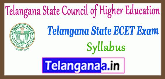 TS Telangana State ECET Syllabus 2019 Time Table