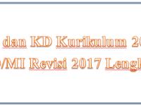 KI dan KD Kurikulum 2013 SD/MI Revisi 2017 Lengkap