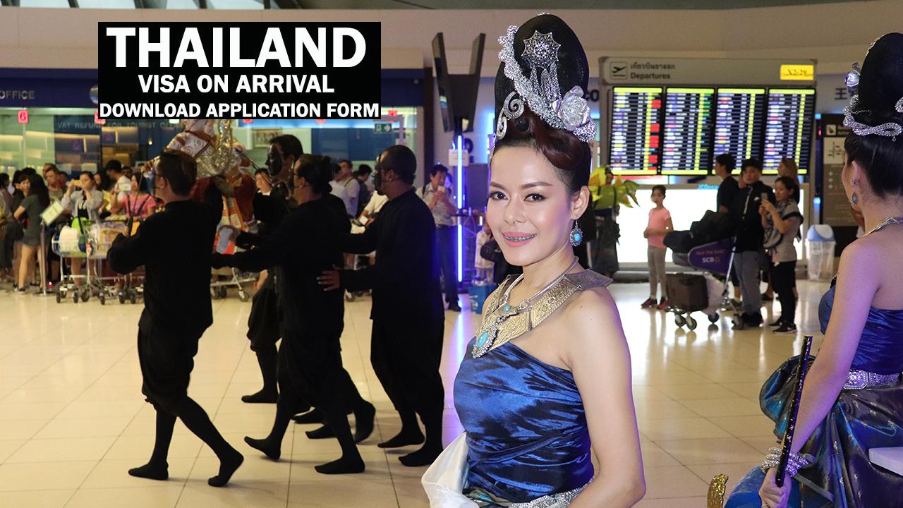 Download Thailand Visa On Arrival Application Form Tripglobally Com Leading Travel Blog