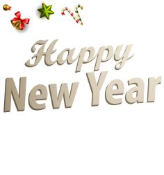 Happy New Year text with holiday background - 09
