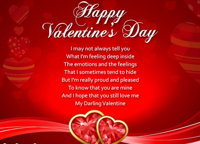 Happy Valentines Day 2017 Messages, SMS For Greeting Cards In English For  Boyfriend, Girlfriend