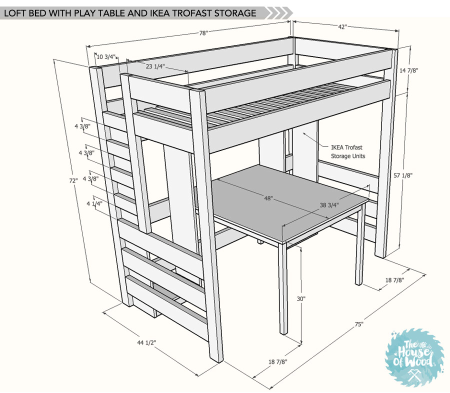 house of wood loft bed plans