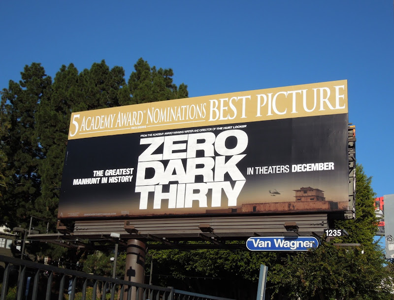 Zero Dark Thirty Oscar Best Picture billboard