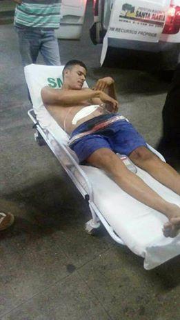Em Santa Maria, PM é baleado durante tentativa de assalto; suspeito é preso