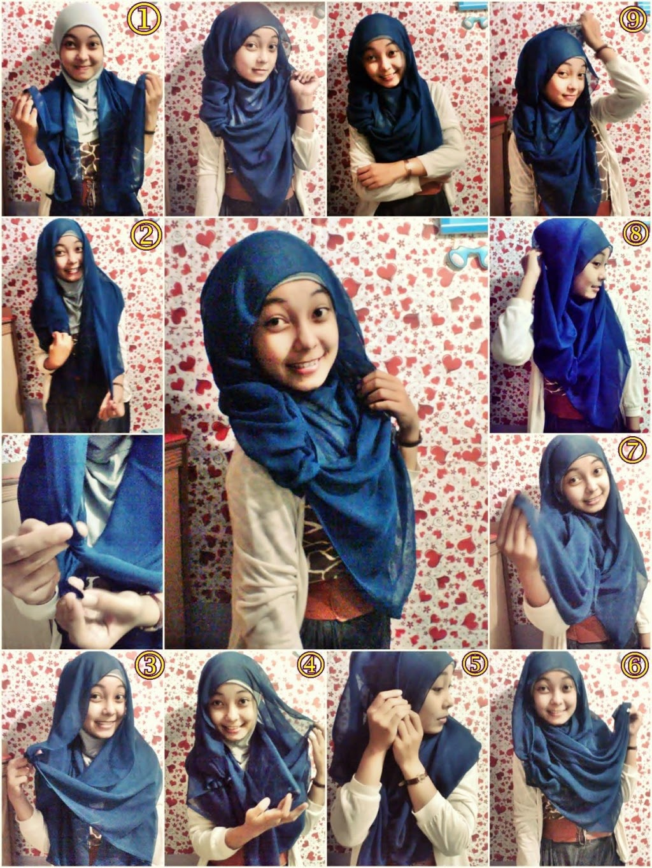 Tutorial Hijab Segi Empat Bahasa Inggris Tutorial Hijab Paling