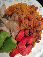 Rice-Chicken-Beans-Avocado-Tomatoes