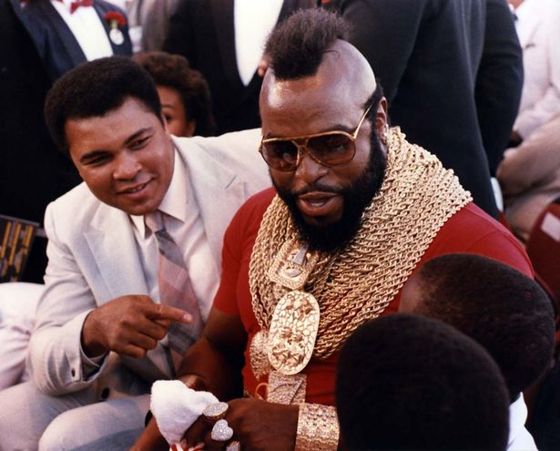 Muhammad Ali and bodyguard Mr.T