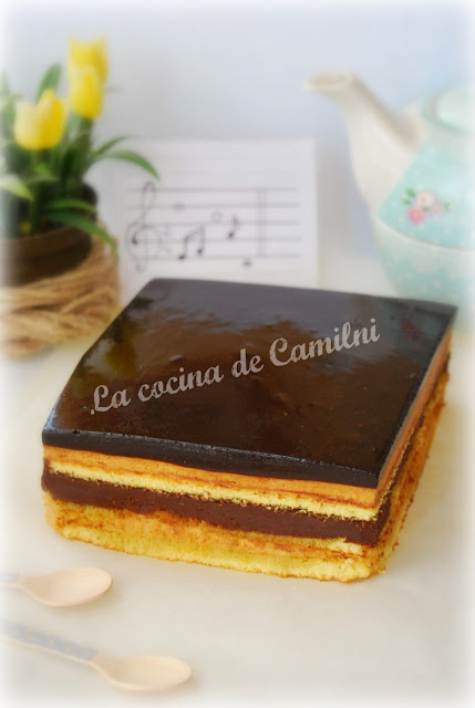 Tarta ópera de dulce de leche (La cocina de Camilni)