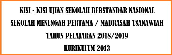 Kisi-Kisi USBN IPA SMP/MTs Tahun Ajaran 2018/2019