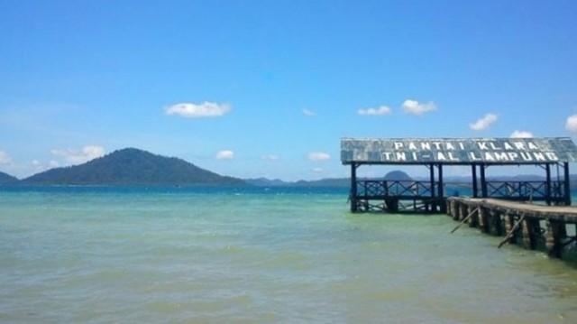 keindahan pantai klara