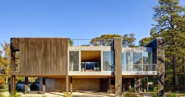 Casa moderna en east hampton minimalistas 2015 for Casa moderna hampton hickory