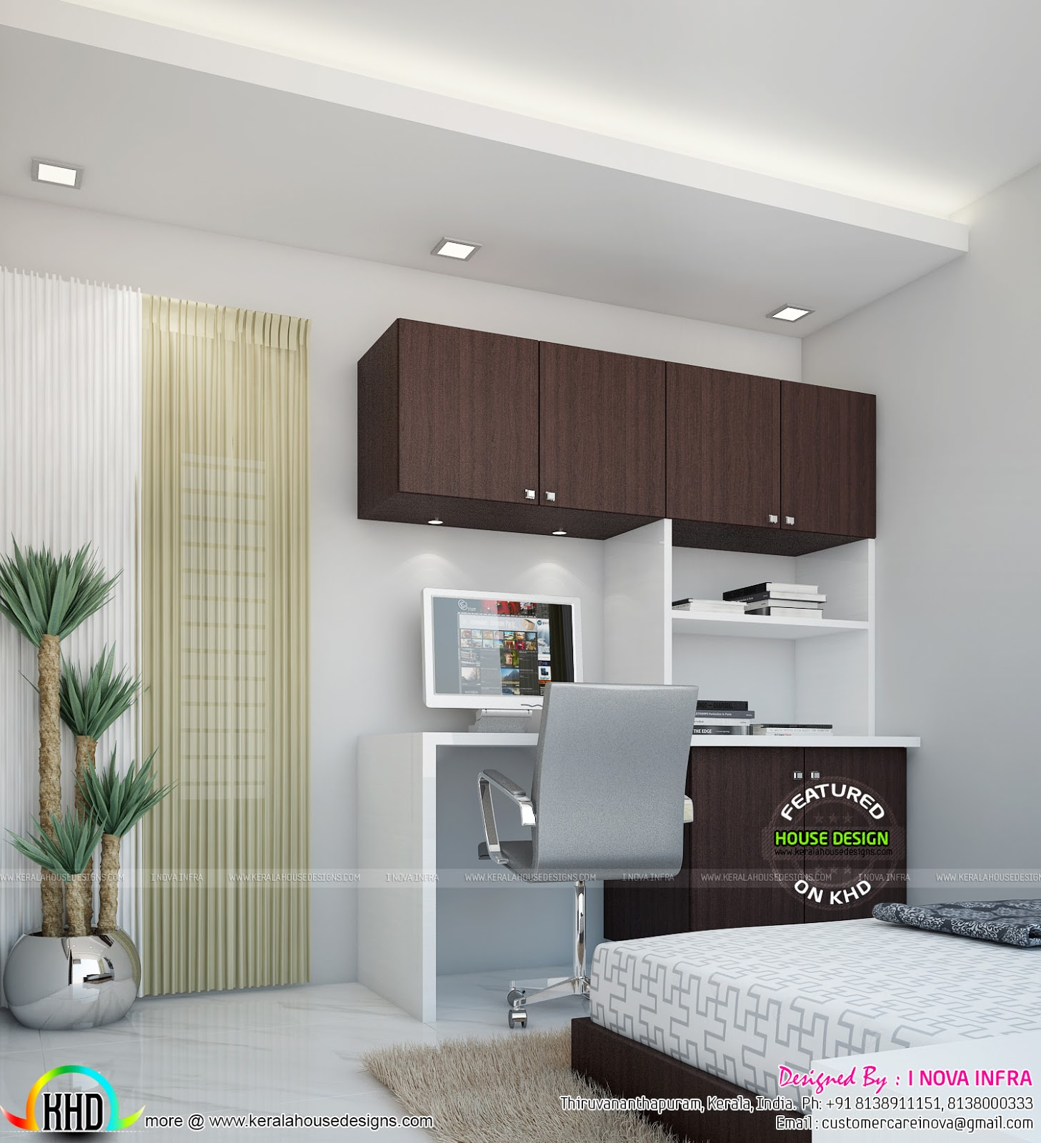 Study Room Interior Design Ideas 1 Study Room Interior: Interior Designs Of Bedroom, Living Rooms
