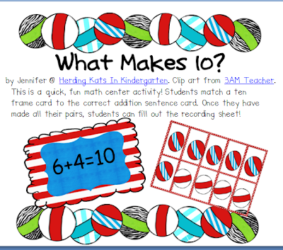 http://www.teacherspayteachers.com/Product/What-Makes-Ten-Matching-Game-207049