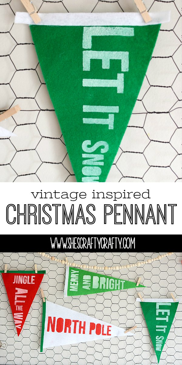 felt pennant, Christmas decorations